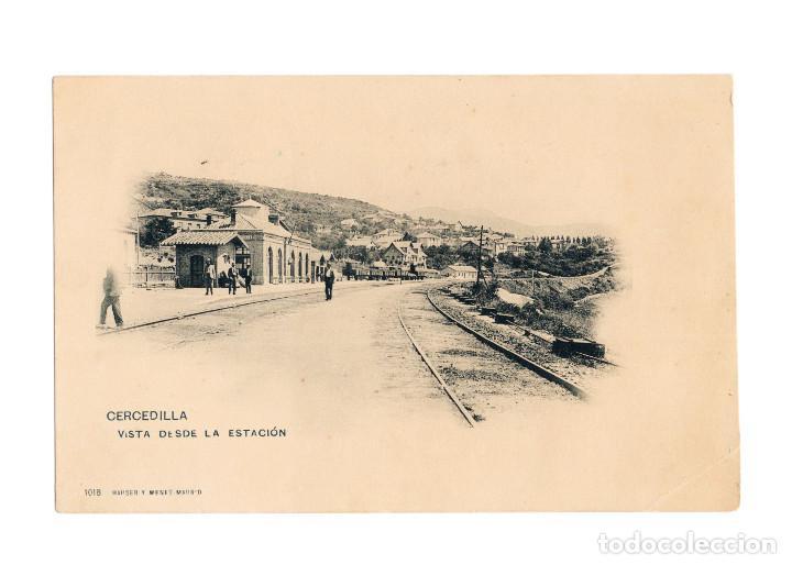 CERCEDILLA.( MADRID).- VISTA DESDE LA ESTACIÓN DEL FERROCARRIL. (Postales - España - Comunidad de Madrid Antigua (hasta 1939))
