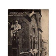 Postales: MADRID.- CONGRESO EUCARÍSTICO CELEBRADO EN MADRID EN 1911. LA PALOMA. POSTAL FOTOGRÁFICA.. Lote 235238875