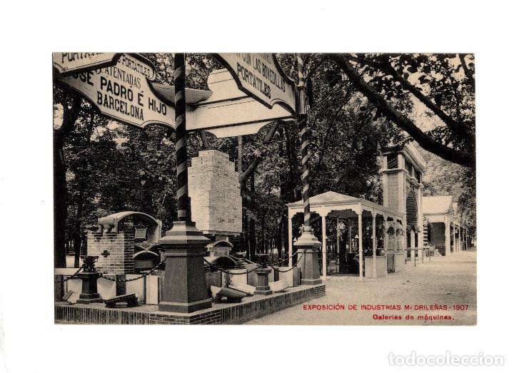 MADRID.- EXPOSICIÓN DE INDUSTRIAS MADRILEÑAS 1907. GALERÍAS DE MÁQUINAS. (Postales - España - Comunidad de Madrid Antigua (hasta 1939))