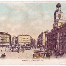Postales: MADRID: PUERTA DEL SOL. PHOTOGLOB ZÜRICH (P.Z.). SIN DIVIDIR. CIRCULADA (ANTERIOR 1905). Lote 235250925
