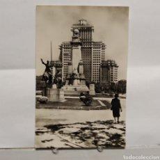 Postales: 22 MADRID, MONUMENTO A CERVANTES, HELIOTÍPIA ARTÍSTICA ESPAÑOLA. Lote 235325610