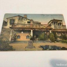 Postales: ANTIGUA POSTAL TOLEDO CASA DEL GRECO CIRCULADA. Lote 235328445