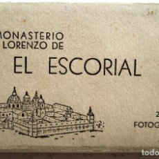 Postales: ACORDEON DE 24 - FOTOGRAFIAS ANTIGUAS DE REAL MONASTERIO DE SAN LORENZO DEL ESCORIAL. Lote 235877260