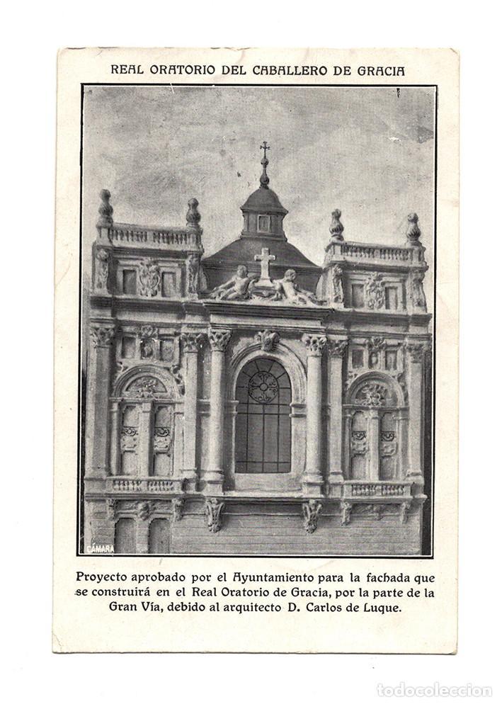MADRID.- REAL ORATORIO DEL CABALLERO DE GRACIA.. ARQUITECTO D. CARLOS DE LUQUE. (Postales - España - Comunidad de Madrid Antigua (hasta 1939))
