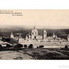 Postales: MONASTERIO DEL ESCORIAL.(MADRID).- VISTA GENERAL.. Lote 236789350