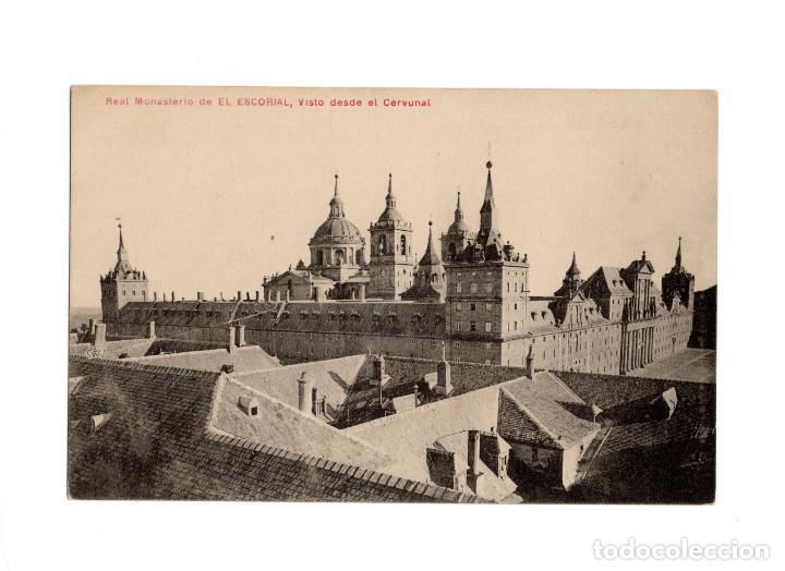 MONASTERIO DEL ESCORIAL.(MADRID).- VISTA DESDE EL CERVUNAL. (Postales - España - Comunidad de Madrid Antigua (hasta 1939))