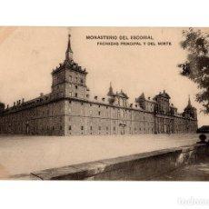 Postales: MONASTERIO DEL ESCORIAL.(MADRID).- FACHADA PRINCIPAL Y DEL NORTE.. Lote 236791455
