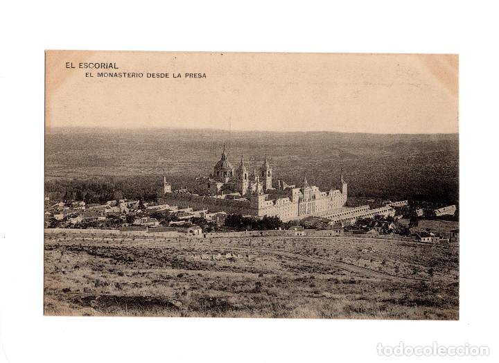 MONASTERIO DEL ESCORIAL.(MADRID).- EL MONASTERIO DESDE LA PRESA. (Postales - España - Comunidad de Madrid Antigua (hasta 1939))