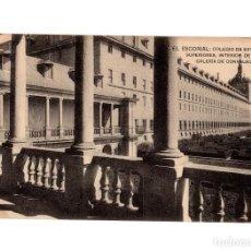 Postales: MONASTERIO DEL ESCORIAL.(MADRID). COLEGIO DE ESTUDIOS SUPERIORES, INTERIOR GALERÍA DE CONVALECIENTES. Lote 236799575