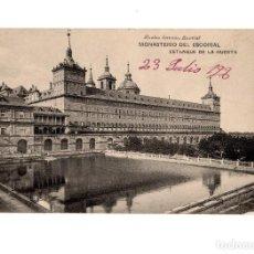 Postales: MONASTERIO DEL ESCORIAL.(MADRID).- ESTANQUE DE LA HUERTA.. Lote 236800520