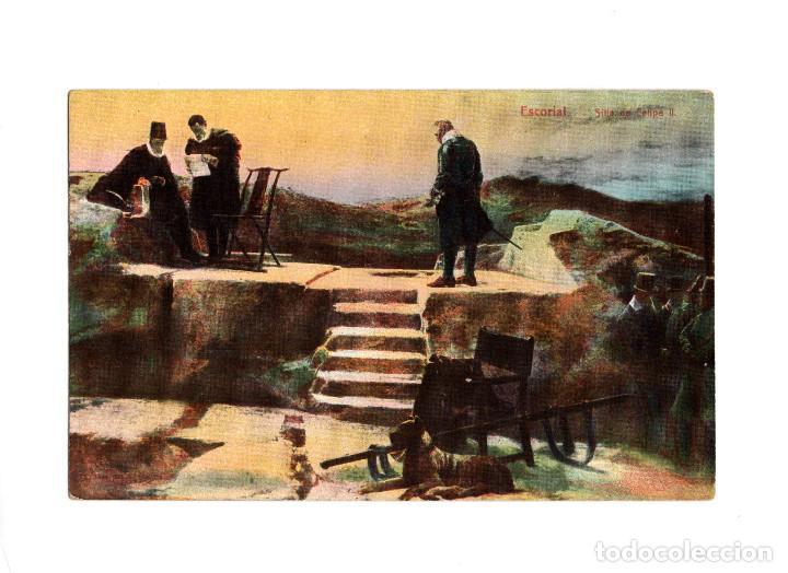 EL ESCORIAL.(MADRID).- SILLA FELIPE II. (Postales - España - Comunidad de Madrid Antigua (hasta 1939))