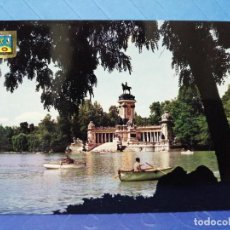 Postales: POSTAL MADRID PARQUE DEL RETIRO ESCUDO DE ORO. Lote 237024700