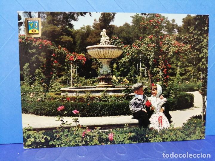 POSTAL MADRID PARQUE DEL RETIRO ESCUDO DE ORO (Postales - España - Madrid Moderna (desde 1940))