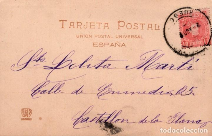 Postales: POSTAL 261 HAUSER Y MENET MADRID - LLEGADA A LA PLAZA DE TOROS - CIRCULADA SELLO ALFONSO XIII - Foto 2 - 239796495