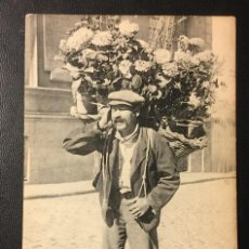 Postales: MADRID , VENDEDOR DE FLORES , 1914 , FOT. LACOSTE. Lote 240686840