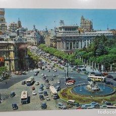 Postales: POSTAL TAMAÑO GRANDE 21 X 15 MADRID CIBELES C/ ALCALA AÑOS 50. SIN CIRCULAR, DESPEGADA. 3 GARRABELLA. Lote 241709010