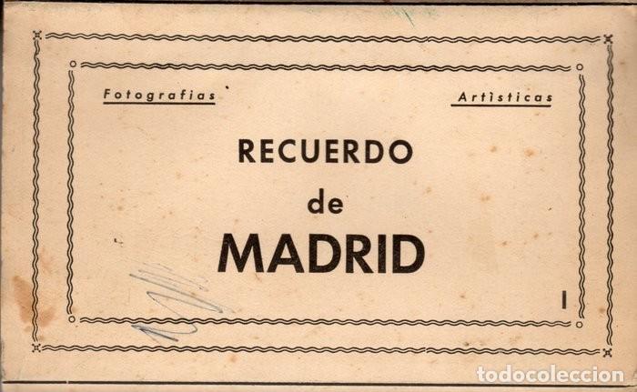POSTALES ANTIGUAS MADRID. AÑOS 50-60. ACORDEÓN 9 UNIDADES (Postales - España - Madrid Moderna (desde 1940))