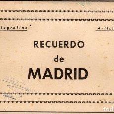 Postales: POSTALES ANTIGUAS MADRID. AÑOS 50-60. ACORDEÓN 9 UNIDADES. Lote 242173405
