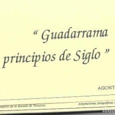 Postales: POSTAL REPRODUCCION GUADARRAMA PRINCIPIOS DE SIGLO MADRID. Lote 242864055