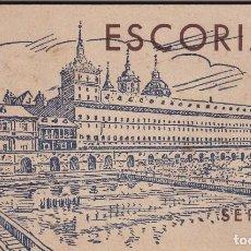 Postales: MADRID, ESCORIAL, BLOK POSTAL COMPLETO CON 20 VISTAS. ED. HAUSER Y MENET. Lote 242944175