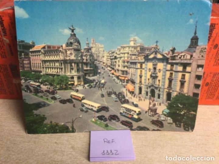POSTAL ANTIGUA MADRID - GRAN VÍA Y CALLE ALCALÁ - -(REF,1112) 15 X 20,5 CMS APRX (Postales - España - Madrid Moderna (desde 1940))