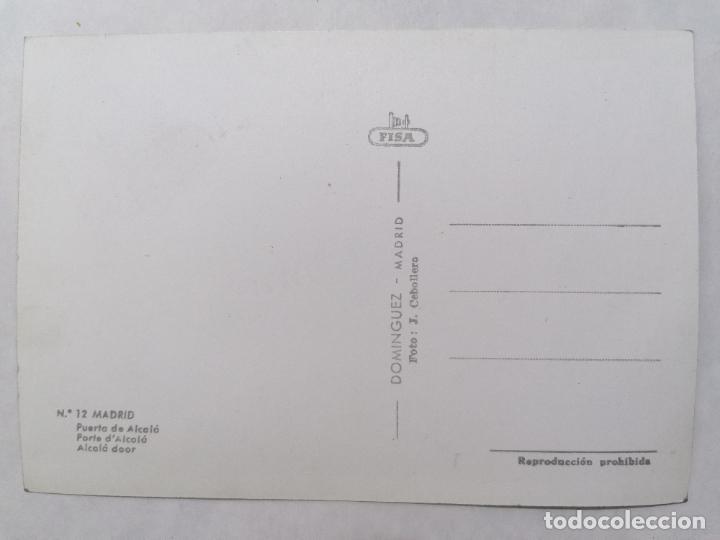 Postales: POSTAL MADRID, PUERTA DE ALCALA, AÑOS 60 - Foto 2 - 244468275
