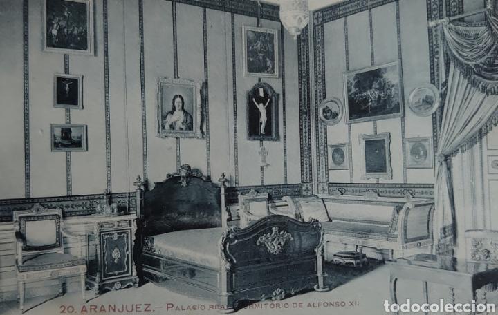 ARANJUEZ POSTAL 9 X 13 CTMS, PALACIO REAL DORMITORIO DE ALFONSO XII... (Postales - España - Comunidad de Madrid Antigua (hasta 1939))