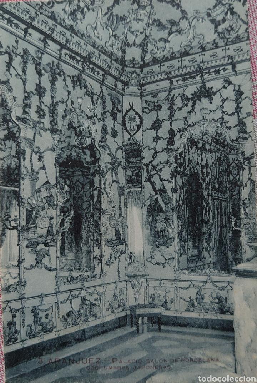 ARANJUEZ POSTAL 9 X 13 CTMS, PALACIO REAL DAÑOS DE PORCELANA... (Postales - España - Comunidad de Madrid Antigua (hasta 1939))