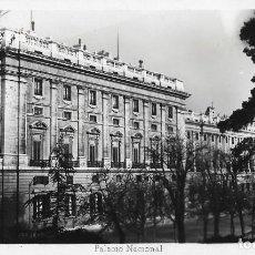 Postales: POSTAL FOTOGRAFICA ANTIGUA MADRID, PALACIO NACIONAL. Lote 244680010