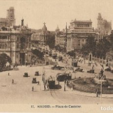 Postales: POSTAL ANTIGUA MADRID, PLAZA DE CASTELAR. Lote 244682040