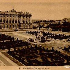 Postales: Nº 41-MADRID. PLAZA DE ORIENTE. CIRCULADA EN 1951. ED. HELIOTIPIA ARTÍSTICA ESPAÑOLA. Lote 244935770