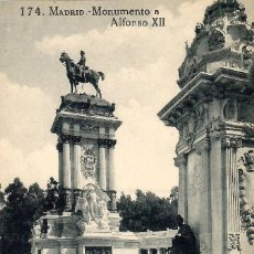 Postales: Nº 174-MADRID. MONUMENTO A ALFONSO XII. SIN CIRCULAR. ED. GRAFOS. Lote 244936870
