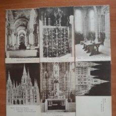 Postales: OCHO FOTOGRAFÍAS ANTIGUAS DE LA CATEDRAL DE LA ALMUDENA - MADRID. Lote 245164075
