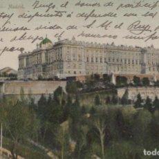 Postales: POSTAL PALACIO REAL - MADRID - 3 - SIN DIVIDIR - CIRCULADA SELLO ALFONSO XIII. Lote 245363835
