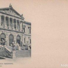 Postales: POSTAL 188 HAUSER Y MENET MADRID - BIBLIOTECA NACIONAL - SIN DIVIDIR. Lote 245372555