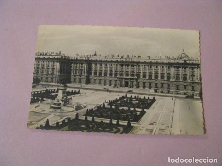 POSTAL DE MADRID. PALACIO NACIONAL. DOMINGUEZ Nº 27. ESCRITA. 1955. (Postales - España - Madrid Moderna (desde 1940))