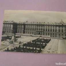 Postales: POSTAL DE MADRID. PALACIO NACIONAL. DOMINGUEZ Nº 27. ESCRITA. 1955.. Lote 245468940