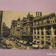 Postales: POSTAL DE MADRID. AVENIDA DE JOSE ANTONIO. HELIOTIPIA ARTISTICA ESPAÑOLA. 36. CIRCULADA.. Lote 245470830