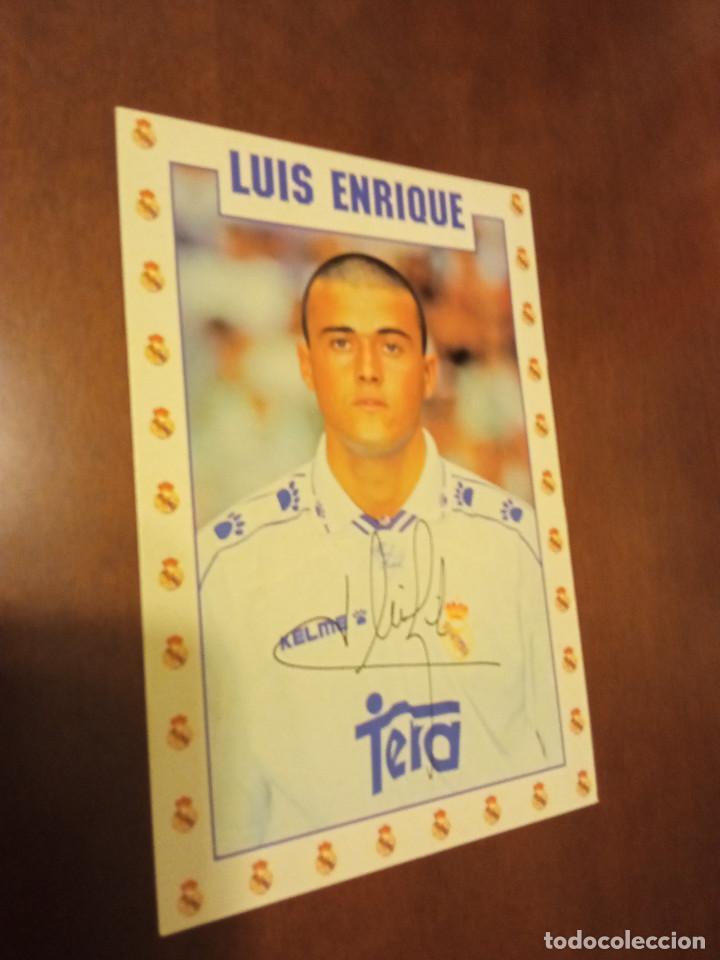 LUIS ENRIQUE REAL MADRID POSTAL FUTBOL FOOTBALL (Postales - España - Madrid Moderna (desde 1940))