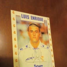 Postales: LUIS ENRIQUE REAL MADRID POSTAL FUTBOL FOOTBALL. Lote 245472780