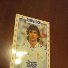 Postales: AMAVISCAREAL MADRID POSTAL FUTBOL FOOTBALL. Lote 245472825
