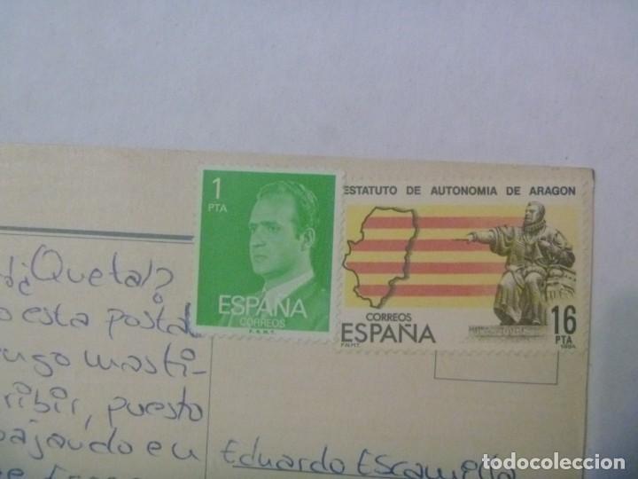 Postales: POSTAL DE MADRID : PLAZA DE ESPAÑA . AÑOS 70 CON 2 SELLOS DETRAS SIN MATASELLAR - Foto 2 - 245656045