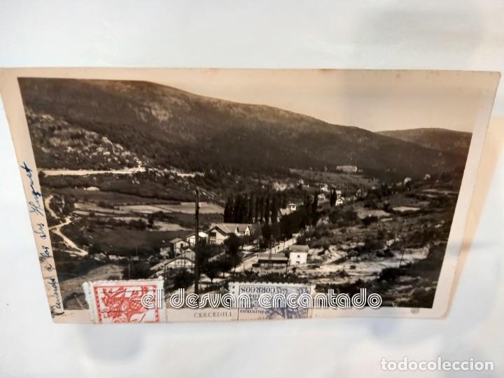 CERCEDILLA. ANTIGUA POSTAL (Postales - España - Madrid Moderna (desde 1940))