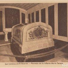 Postales: (467) POSTAL MONASTERIO DEL ESCORIAL - PANTEON INFANTA Mª TERESA - EDIC. G.GARRABELLA - SIN CIRCULAR. Lote 245740275