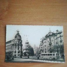 Postales: MADRID, PUERTA DEL SOL. EL FENIX DESDE LA CALLE ALCALA. DOMINGUEZ.. Lote 245894485