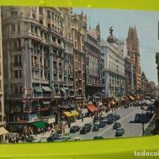 Postales: MADRID AV JOSE ANTONIO HOY GRAN VIA ANIMADA GARRABELLA 132 CIRCVLADA 1966. Lote 246167705
