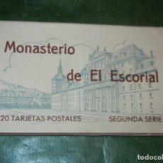 Postales: MONASTERIO DE EL ESCORIAL - TIRA 20 TARJETAS POSTALES - SEGUNDA SERIE - HAUSER Y MENET. Lote 246329485