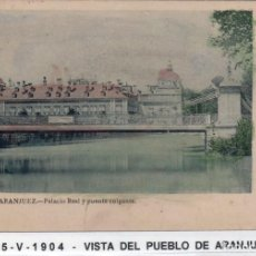 Postales: MADRID.- PUEBLO DE ARANJUEZ, PUENTE COLGANTE, CIRCULADA 1904,FOT, LAURENT,JMOLINA1946. Lote 246444795