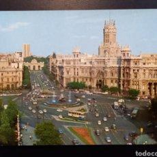 Postales: POSTAL DE. MADRID. LA COBELES Y PALACIO DE COMUNICACIONES.. Lote 246447165