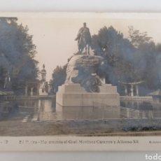 Postales: MADRID. EL RETIRO. GENERAL MARTINEZ CAMPOS Y ALFONSO XII. POSTAL CIRCULADA 1947. Lote 247992870